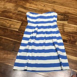 J.Crew strapless striped sundress